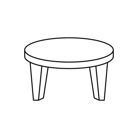 テーブル木製分離アイコン ベクトル イラスト デザイン 写真素材 - 74252457
