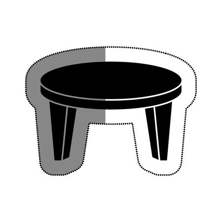 テーブル木製分離アイコン ベクトル イラスト デザイン 写真素材 - 74252452