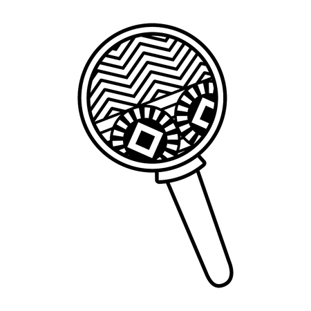 maraca instrument isolated icon vector illustration design Illustration