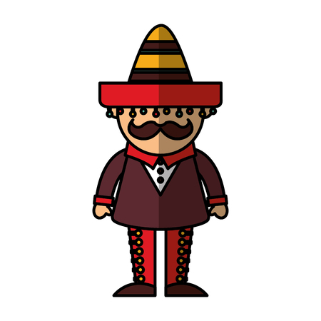 mexican man avatar character vector illustration design
