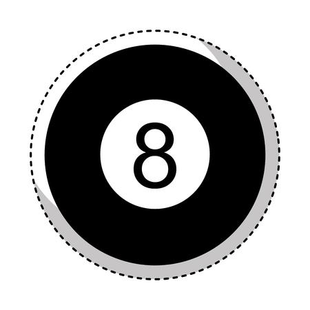 eight ball isolated icon vector illustration design