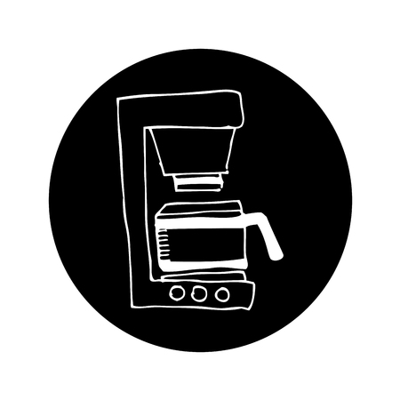 coffee machine drawing isolated icon vector illustration design