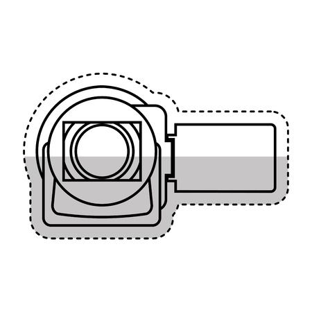 handycam: video camera handycam icon vector illustration design
