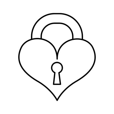Vorhängeschloss isoliert Symbol Vektor-Illustration , Design ,