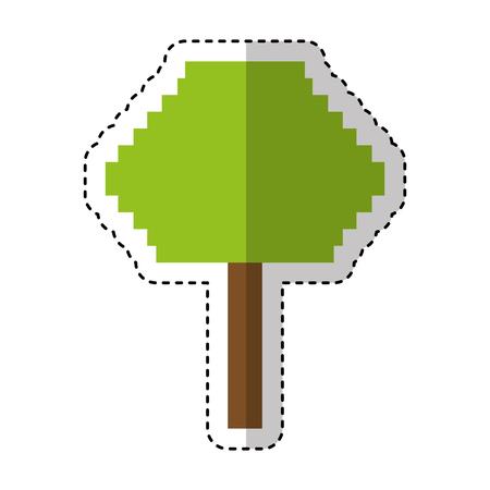 tree pixelated isolated icon vector illustration design