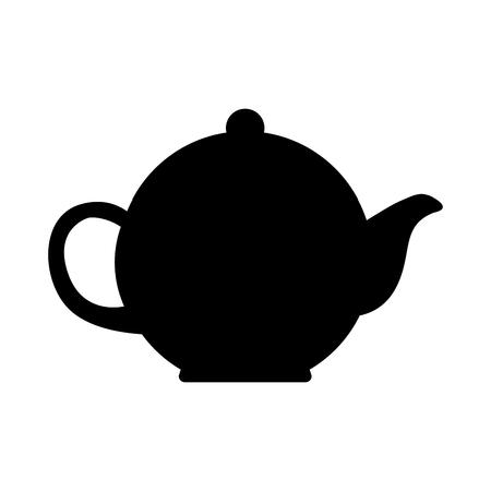 theepot keukengereedschap pictogram vector illustratie ontwerp