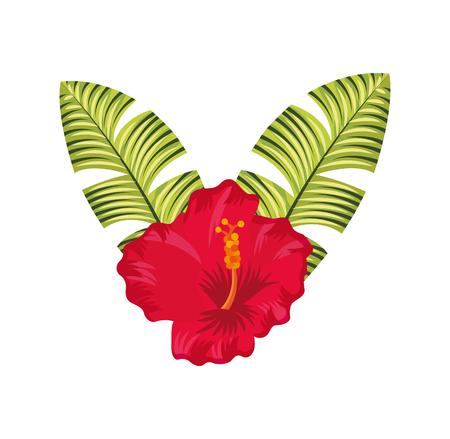 pistil: exotic and tropical flower icon vector illustration design Illustration