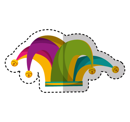 harlequin hat isolated icon vector illustration design Stock Vector - 74386796