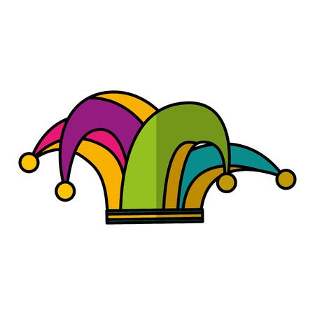 harlequin hat isolated icon vector illustration design