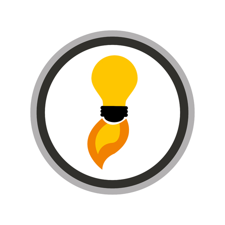 launcher: bulb light start up isolated icon vector illustration design