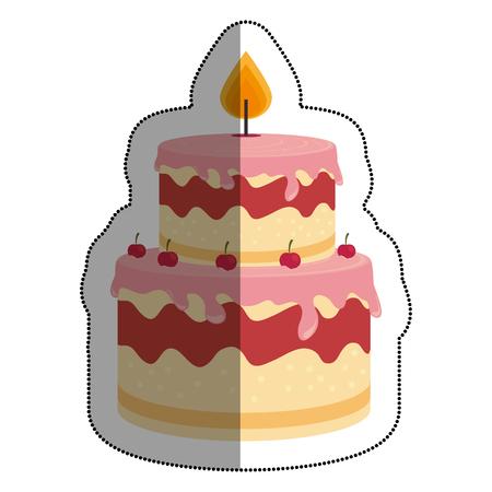 sweet cake delicious icon vector illustration design Illustration