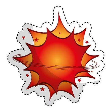 explosive expresion comic pop art vector illustration design