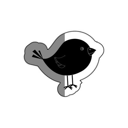 cute little bird icon vector illustration design