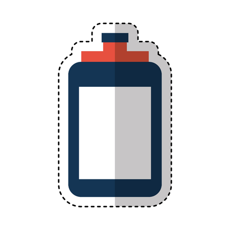 bottle water gym icon vector illustration design