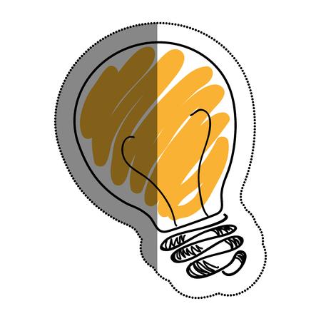 bulb light drawing icon vector illustration design Illustration