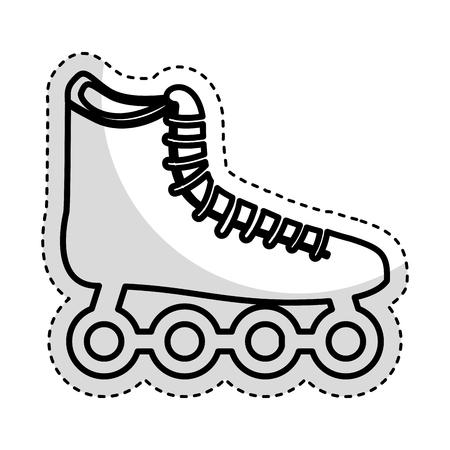 roller skating: skate wheels isolated icon vector illustration design Illustration