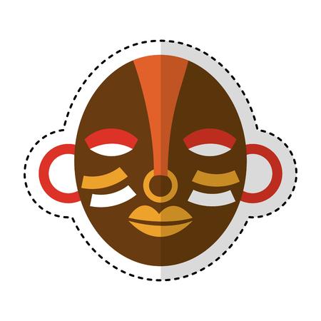 antiquities: african mask ethnicity icon vector illustration design Illustration