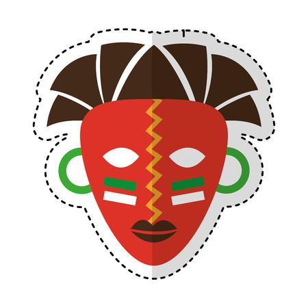 Afrikaanse masker etniciteit icoon vector illustratie ontwerp Vector Illustratie