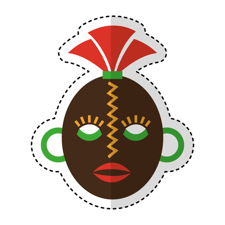 african mask ethnicity icon vector illustration design Illustration