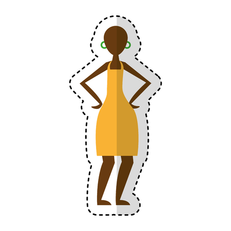 woman figure african icon vector illustration design Illustration