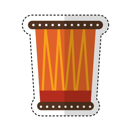 african drum instrument icon vector illustration design 向量圖像