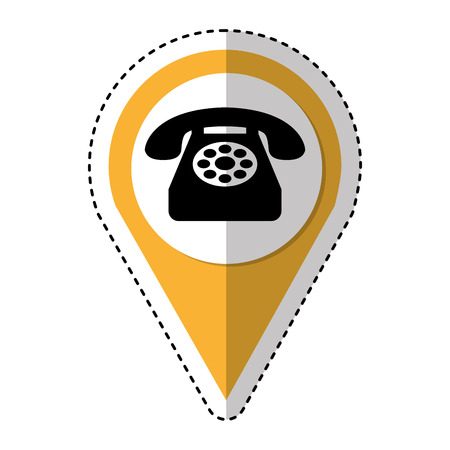 old phone: telephone service isolated icon vector illustration design Illustration