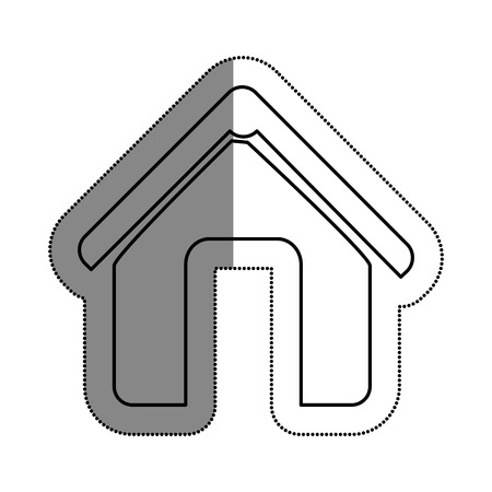 building site: House silhouette isolated icon vector illustration design.