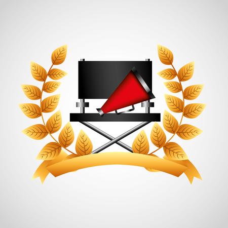 multimedia background: cinema entertainment elements icon vector illustration design Illustration