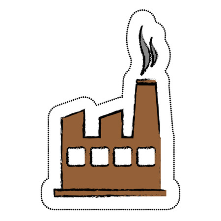 dangerous construction: plant industrial building icon vector illustration design Illustration