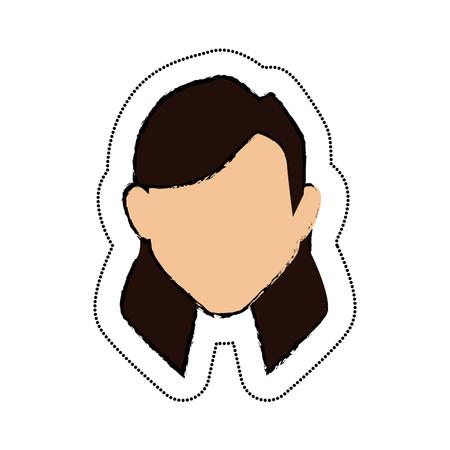 女性アバターの文字アイコン ベクトル イラスト デザイン
