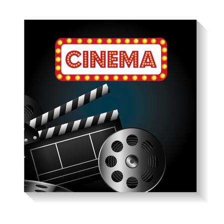 cinema entertainment elements icon vector illustration design Ilustração