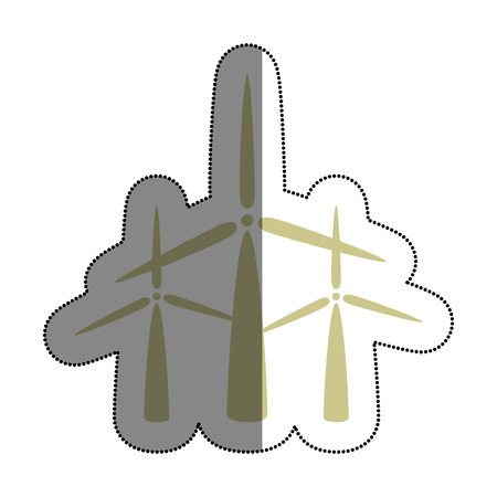 windmills energy alternative icon vector illustration design