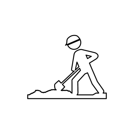 road sign under construction vector illustration design Illustration