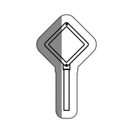 trafic routier conception icône de signal vecteur d'illustration Illustration