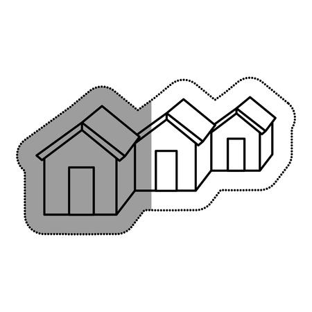 neighbourhood: Neighbourhood silhouette isolated icon vector illustration design