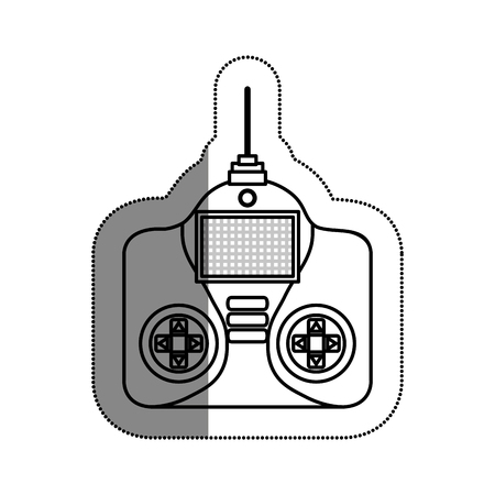 antennas: drone remote control isolated icon vector illustration design Illustration