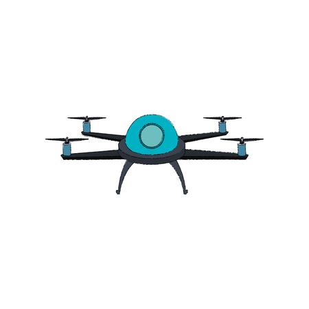 drone technology flying isolated icon vector illustration design Illustration