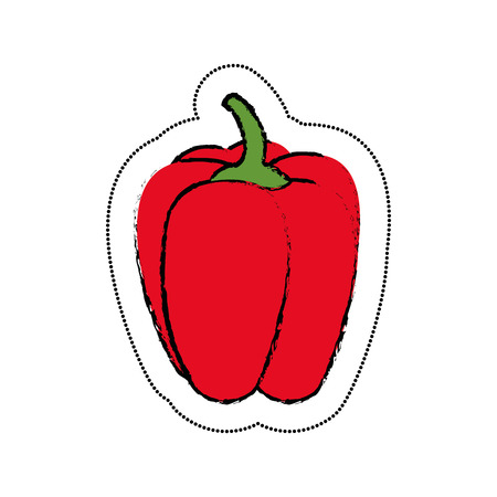 vegetable pepper isolated icon vector illustration design