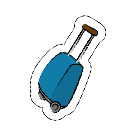 valise: travel suitcase isolated icon vector illustration design