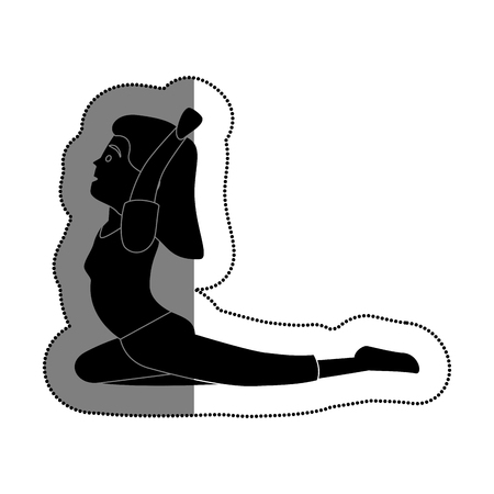 woman athlete practicing yoga avatar character vector illustration design Illustration
