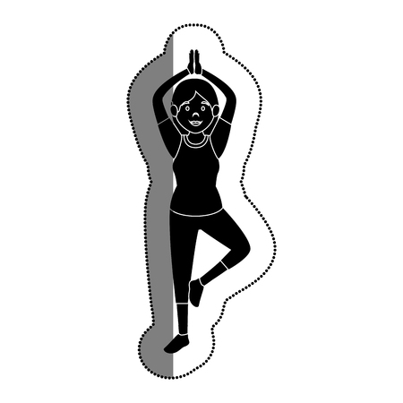 woman athlete practicing exercise avatar character vector illustration design Illustration