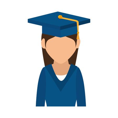 student graduated avatar icon vector illustration design