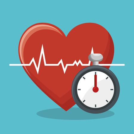 cronometro: fitness lifestyle elements icons vector illustration design