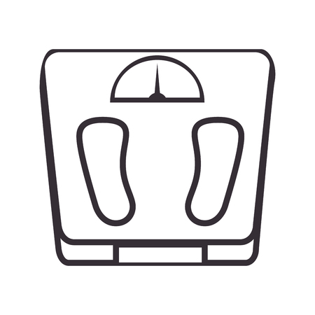 weight balance isolated icon vector illustration design