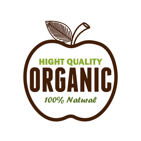 Image of organic product guaranteed seal vector illustration design. Illustration