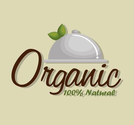 Simple organic product guaranteed seal vector illustration design