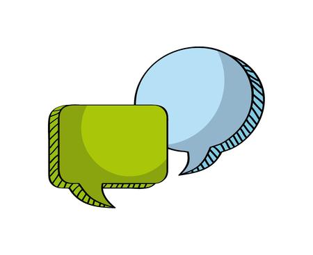 speech bubble icon over white background. colorful design. vector illustration Ilustração