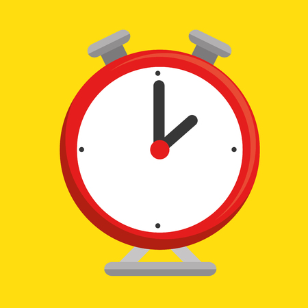 clock alarm isolated icon vector illustration design Illustration