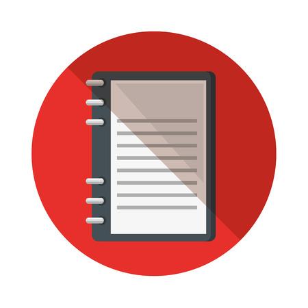 literacy: notebook school supply icon vector illustration design Illustration