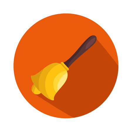 school bell isolated icon vector illustration design